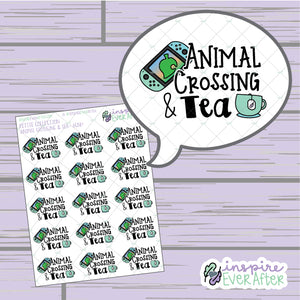 Crossin' Animals & Tea ~ Choose Your Console! ~ Hand Drawn Video Game Icon ~ Petite Collection ~ Planner Stickers