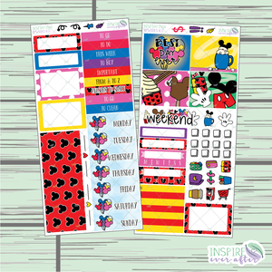 Best Day Ever Limited Edition PPWeeks Weekly Kit ~ Hand Drawn Functional Planner Stickers