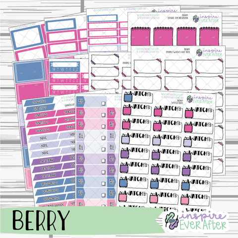 Berry ~ Seasonal, Foodie Functional Collection ~ Planner Stickers