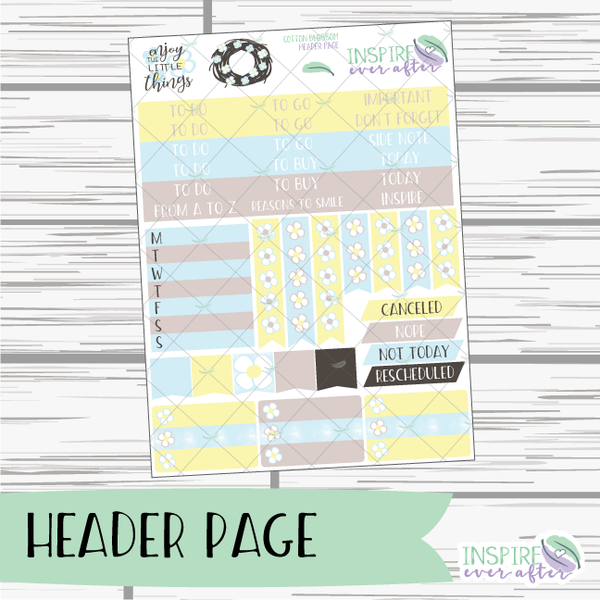 Cotton Blossom Weekly Kit ~ Planner Stickers