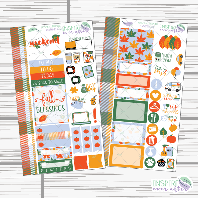 Crisp Fall Morning Personal Size Weekly Kit ~ Planner Stickers
