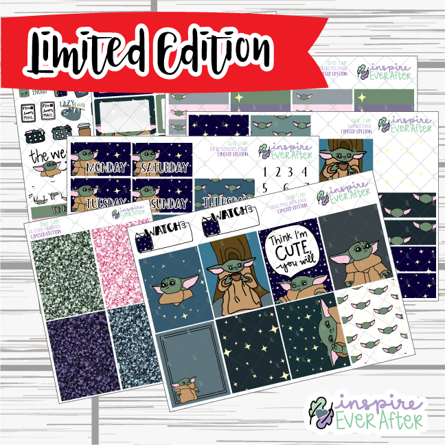 Cute I Am ~ LIMITED EDITION Weekly Kit ~ Hand Drawn Space ~ Planner Stickers