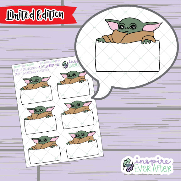 Cute I Am Observation Boxes ~ LIMITED EDITION ~ Hand Drawn Petite Collection ~ Planner Stickers