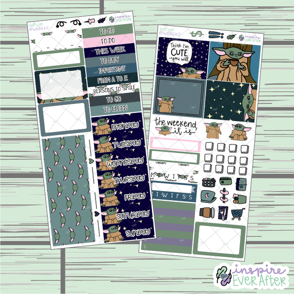 Cute I Am ~ LIMITED EDITION PPWeeks Weekly Kit ~ Hand Drawn ~ Functional Planner Stickers