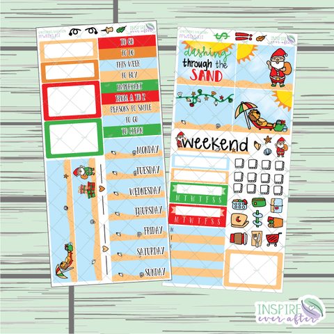 Christmas Vacation PPWeeks Weekly Kit ~ Hand Drawn Functional Planner Stickers