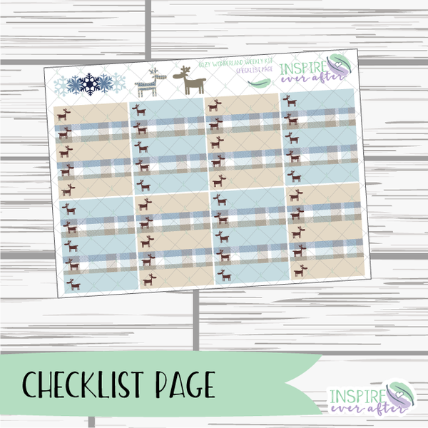 Cozy Wonderland Weekly Kit ~ Planner Stickers