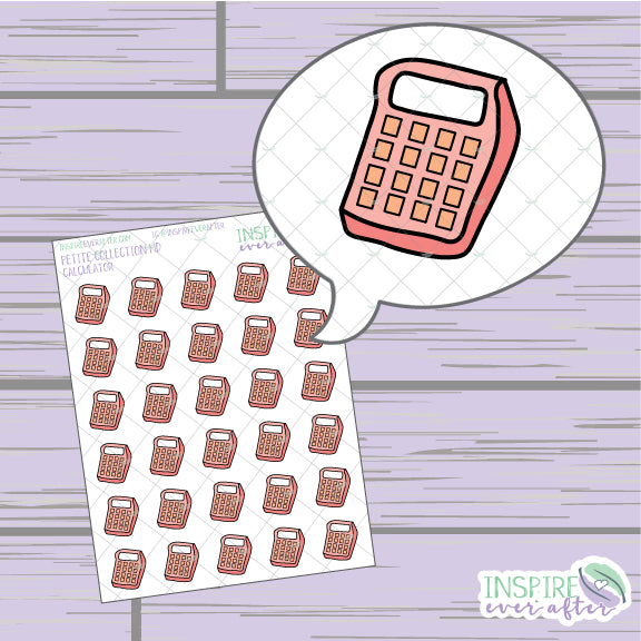Calculator ~ Hand Drawn Petite Collection ~ Planner Stickers
