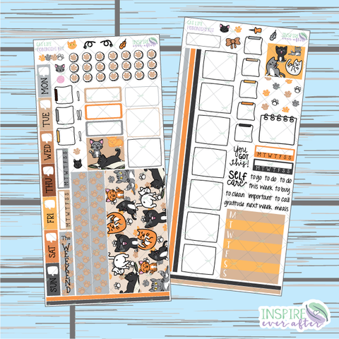 Cat Life Hobonichi Weekly Kit ~ Hand Drawn Planner Stickers