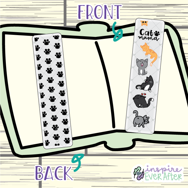 Cat Mama Bookmark ~ Hand Drawn Pets Inspired Bookmarks ~ Planner & Book Accessories