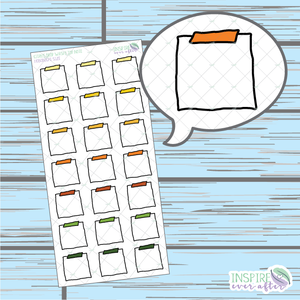 Citrus Drop Top Washi Note Doodle ~ Hand Drawn Hobonichi Functionals ~ Planner Stickers