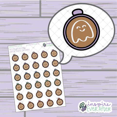 Coffee Ghost in a Mug ~ Hand Drawn Seasonal Beverage Doodle ~ Petite Collection ~ Planner Stickers