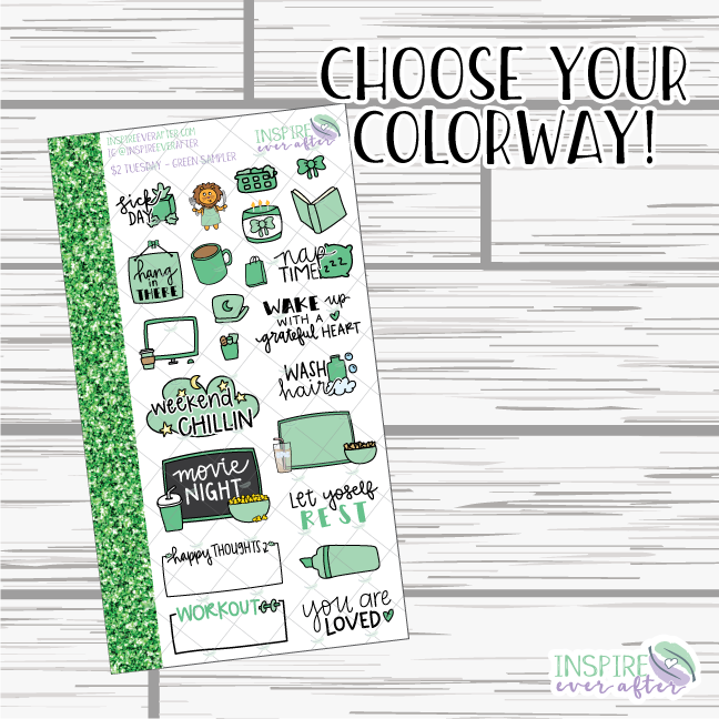 IEA Favorites Samplers ~ Choose Your Colorway! ~ Hand Drawn Stickers ~ Planner Stickers
