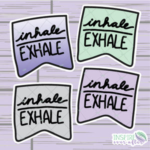 Inhale/Exhale Banner Die Cut ~ Choose Your Color! ~ Hand Drawn Planner Accessories