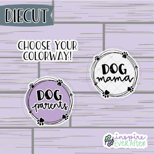 Dog Mama Or Dog Parent Die Cut ~ Choose Your Colorway! ~ Hand Drawn Pet/ Animal ~ Planner Accessories
