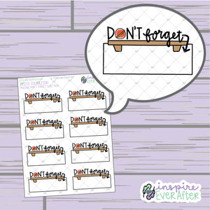 Magical Don't Forget Shelf Box ~ Hand Drawn Magical Reminders ~ Functional Petite Collection ~ Planner Stickers