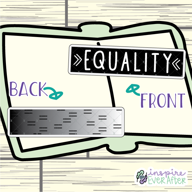 Equality Bookmark ~ Hand Drawn Positive Affirmation Inspired Bookmarks ~ Planner & Book Accessories