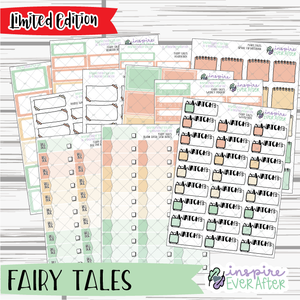 Fairy Tales ~ LIMITED EDITION ~ Story time Functional Collection ~ Planner Stickers