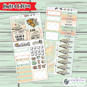 Fairy Tales ~ LIMITED EDITION PPWeeks Weekly Kit ~ Hand Drawn Story Time ~ Functional Planner Stickers
