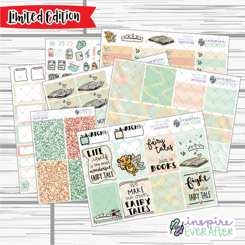 Fairy Tales ~ LIMITED EDITION Weekly Kit ~ Hand Drawn Story Time ~ Planner Stickers
