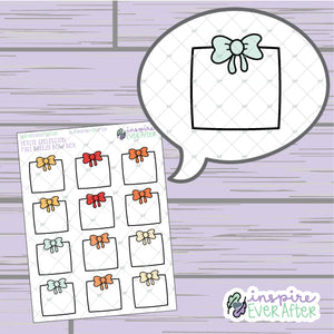 Fall Breeze Bow Box ~ Hand Drawn Seasonal Functional ~ Petite Collection ~ Planner Stickers