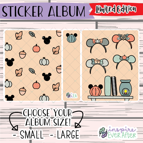 Fall Mouse Vibes Sticker Album ~ LIMITED EDITION Hand Drawn Seasonal Sticker Albums ~ Planner Storage & Accessories