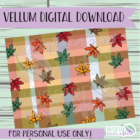 Fall Time Vellum ~ Digital Download ~ Hand Drawn Digitals