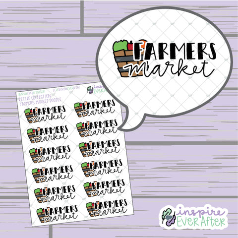 Farmers Market ~ Hand Drawn Seasonal Fall Doodle ~ Petite Collection ~ Planner Stickers