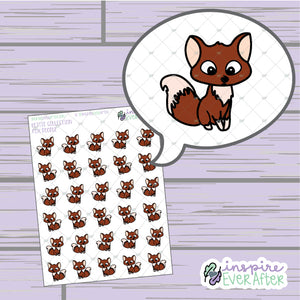 Fox Doodles ~ Hand Drawn Seasonal Fall Animal Doodle ~ Petite Collection ~ Planner Stickers