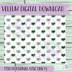 Magical Green House Bow Vellum ~ Digital Download ~ Hand Drawn Digitals