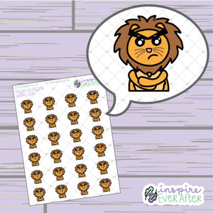Grumpy Zion the Lion ~ Hand Drawn Sassy Character ~ Petite Collection ~ Planner Stickers