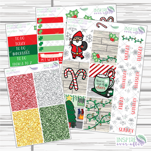 Holly Jolly Slim Weekly Kit ~ Planner Stickers