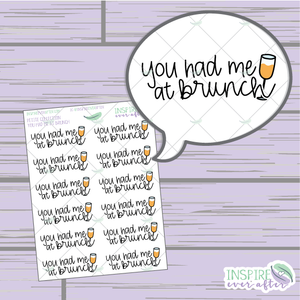 You Had Me at Brunch ~ Hand Drawn Food Icon ~ Petite Collection ~ Planner Stickers