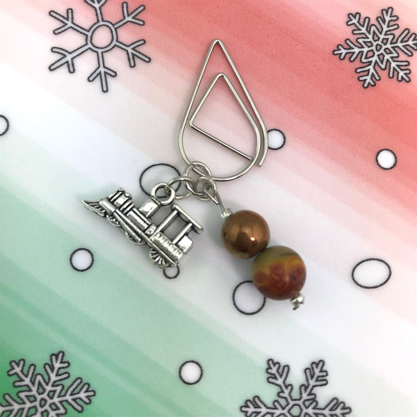 Choo Choo Train Dangle Clip ~ Inspireology Charms ~ Handmade Holiday Planner Accessories