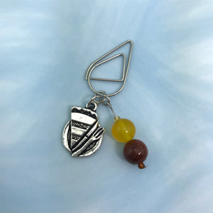Eat Pie! Dangle Clip ~ Inspireology Charms ~ Handmade Fall/ Thanksgiving Planner Accessories