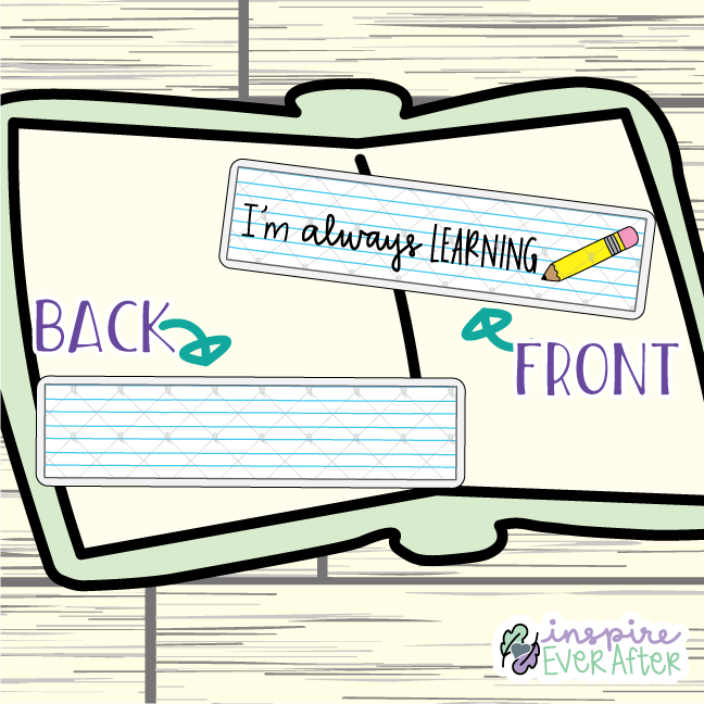 I'm Always Learning Bookmark ~ Hand Drawn School Inspired Bookmarks ~ Planner & Book Accessories