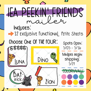 May Jubilee Peekin' Friends Sticker Mailer ~ Choose Your Character! ~ NO Coupons or Reward Codes Allowed ~ Please Read Description for Full Details!!