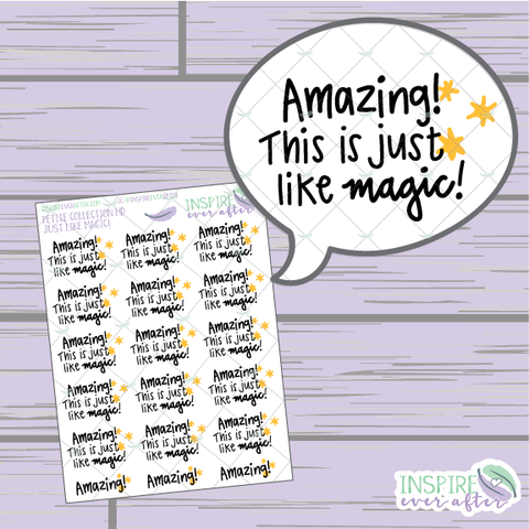 Amazing! This is Just like Magic! ~ Hand Drawn Petite Collection ~ Planner Stickers