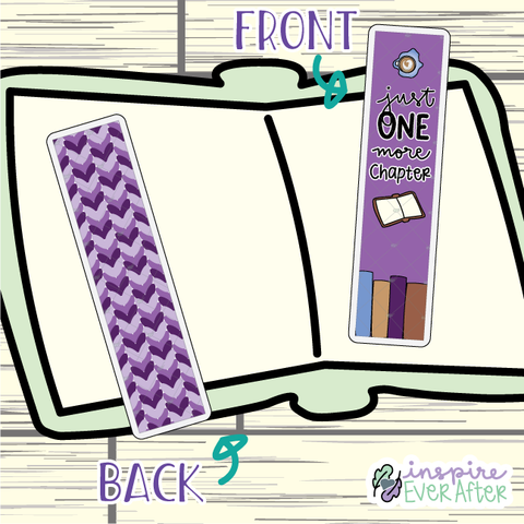Just One More Chapter Bookmark ~ Hand Drawn Reading Inspired Bookmarks ~ Planner & Book Accessories