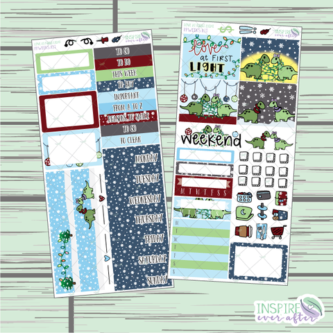 Love At First Light PPWeeks Weekly Kit ~ Hand Drawn Holiday Functional Planner Stickers