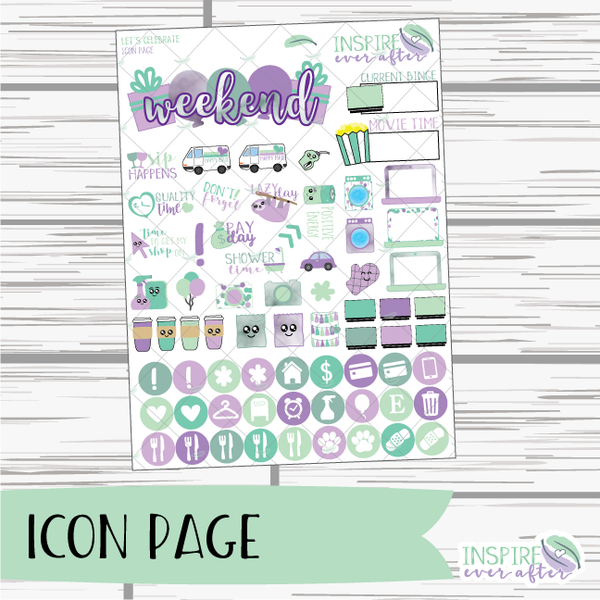 Let's Celebrate Weekly Kit ~ Planner Stickers