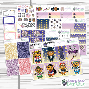 Luna Scout Weekly Kit ~ Hand Drawn 90s Things Stickers ~ Planner Stickers