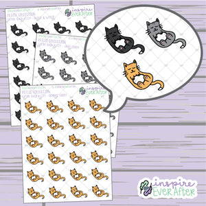Layin' Back Kitty ~ Choose Your Kitty! ~ Hand Drawn Pet Doodle ~ Petite Collection ~ Planner Stickers