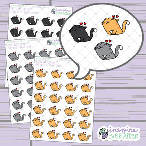 Lovey Kitty ~ Choose Your Kitty! ~ Hand Drawn Pet Doodle ~ Petite Collection ~ Planner Stickers