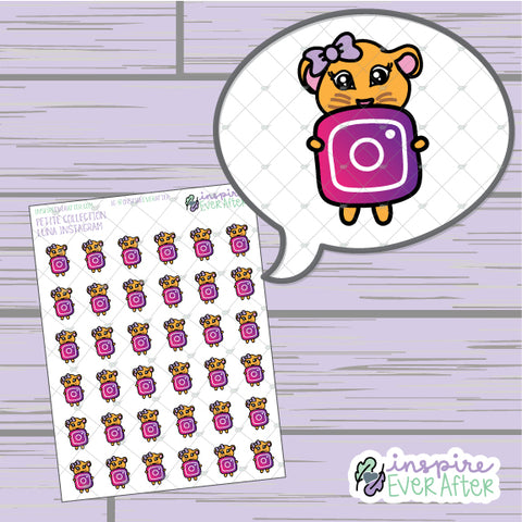 Luna the Lioness Instagram Icon ~ Hand Drawn Social Media Character Doodle ~ Petite Collection ~ Planner Stickers
