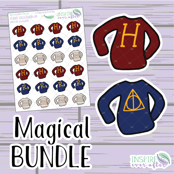Magical Sweater Bundle ~ Hand Drawn ~ Planner Stickers & Accessories