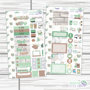 Mint Cocoa Personal Size Weekly Kit ~ Planner Stickers