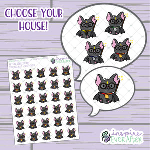 Magical Bat ~ Choose Your House! ~ Hand Drawn Magical Animal ~ Petite Collection ~ Planner Stickers