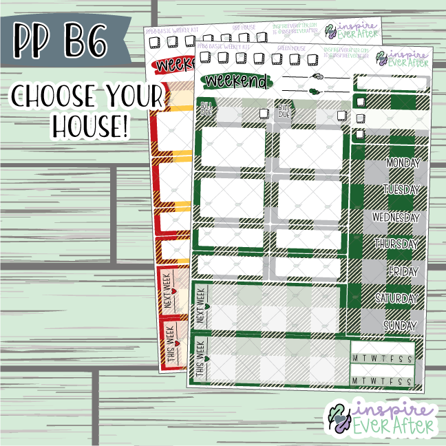 Magical House Collection PPB6 Basic Weekly Kit ~ Choose Your Colorway! ~ Hand Drawn Magical Functional Planner Stickers