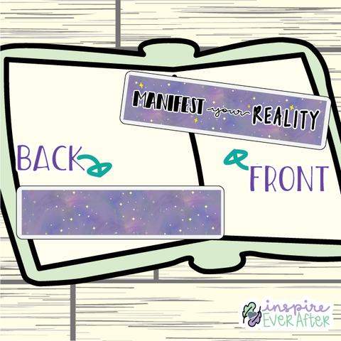 Manifest Your Reality Bookmark ~ Hand Drawn Positive Affirmation Inspired Bookmarks ~ Planner & Book Accessories