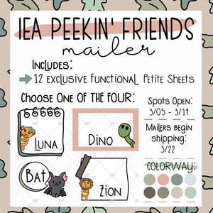 March Peekin' Friends Sticker Mailer ~ Choose Your Character! ~ NO Coupons or Reward Codes Allowed ~ Please Read Description for Full Details!!